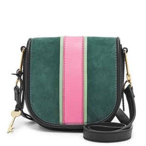 NWT Fossil Rumi Crossbody Leather & Suede